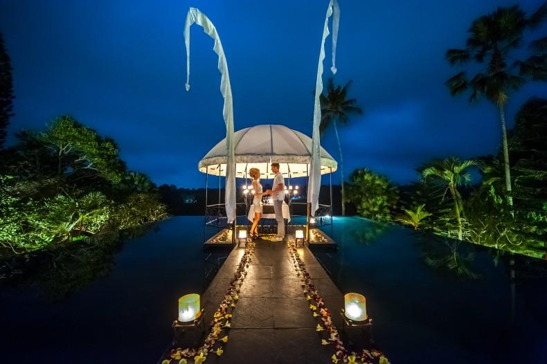 Романтический ужин на Бали