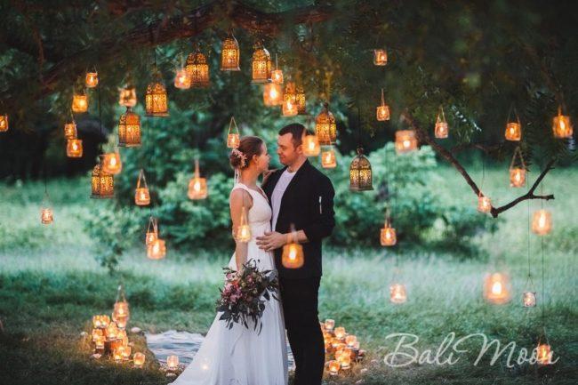 свадьба при свечах на Бали