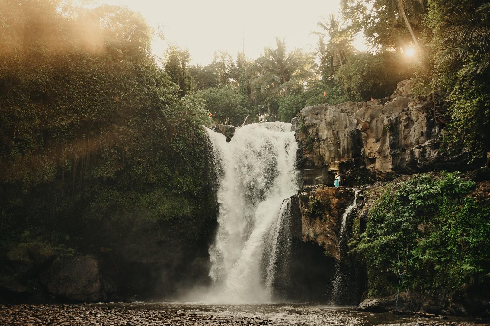 Romantic waterfall wedding